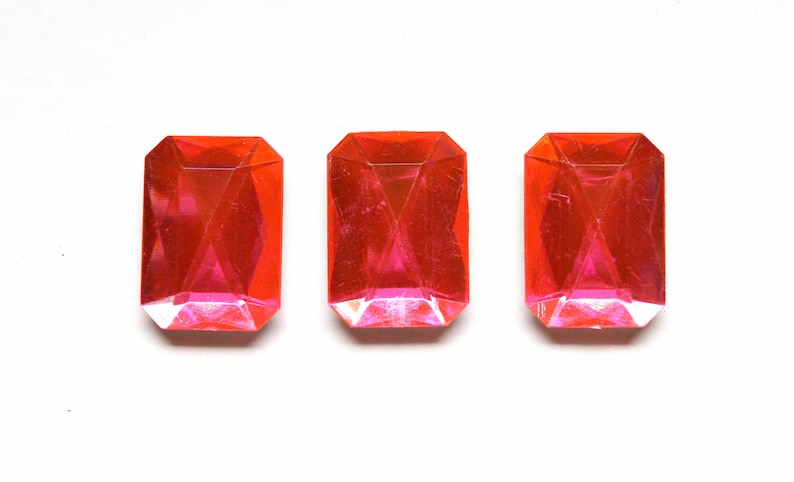 Hot Pink Gems for your locker or office Neon Pink Jewel Fridge Magnets