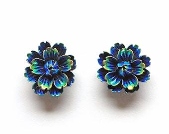 Bohemian Fridge Magnets - Iridescent Flower Magnets for your locker, office, or kitchen