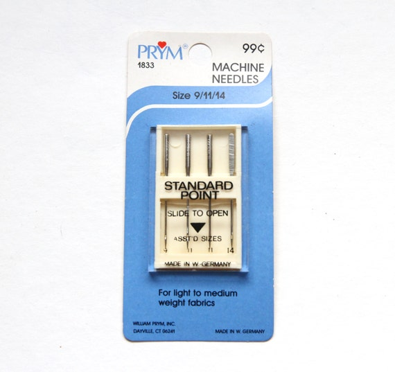 Machine sewing needles standard point sizes 9 and 11