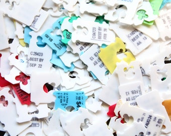 100 Bread Tabs for upcycled diy crafting, plastic bag ties, bag tabs, bag tags, recycled