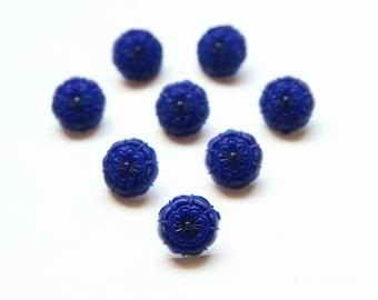 Vintage plastic button set, Fancy plastic buttons, Fancy blue buttons, Fancy red buttons, Fancy green buttons,