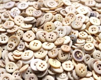 Antique bone buttons, cow bone buttons, antique buttons, restoration and reenactment buttons, underwear buttons, civil war era, 50 buttons
