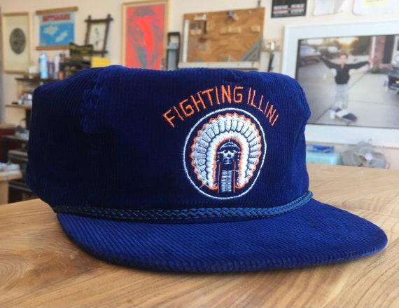 Illinois Fightin Illini Corduroy 90s Snapback Hat