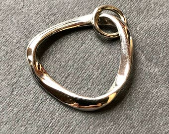 Solid Sterling Silver Mobius charm triangular simple minimalistic