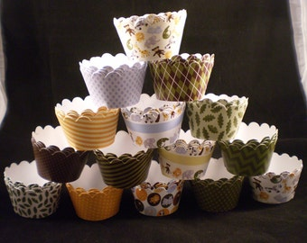 Custom Jungle Cupcake Wrappers (12)