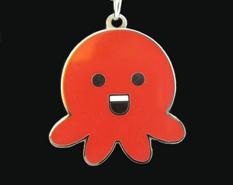 Choose Your Color of the Rainbow Deluxe Metal Happy Octopus Necklace