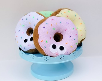 Donut with sprinkles - plush donut - one donut - doughnut - plush food -  geek gift - gift for kids - anthropomorphic - stuffed toy 546642f46