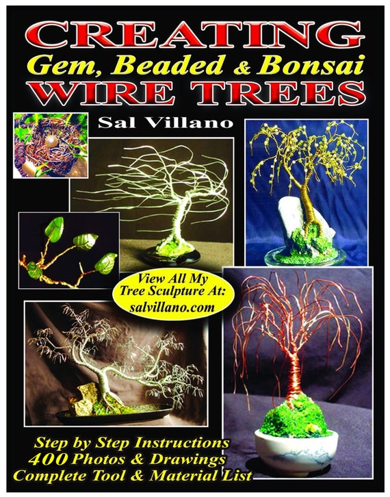 Creating Gem Beaded Bonsai Wire Trees Printed Book Etsy