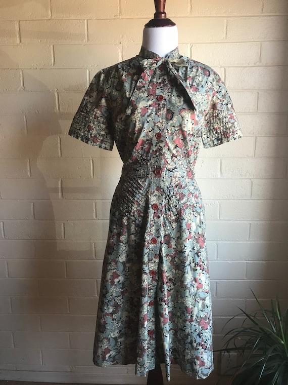60's Albert Nipon Watercolor Dress - image 8