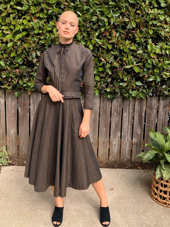 1950's L'AIGLON skirt and jacket 2 piece set xs