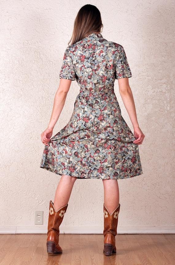 60's Albert Nipon Watercolor Dress - image 5