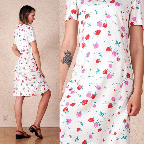 60's Nat Kaplan Couture Strawberry Dress