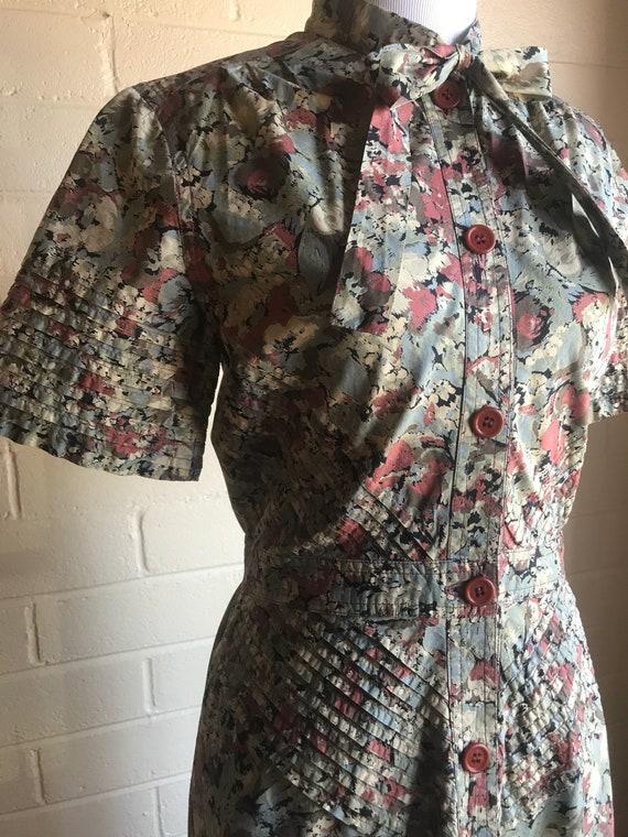 60's Albert Nipon Watercolor Dress - image 4
