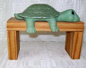 Handmade Ceramic Turtle Figurine / Turtle Statue / Turtle Decor / Woodland Decor / Turtle Themed Gift / Shelf Sitter Turtle / Coastal Decor