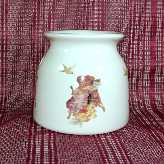 handmade ceramic wax warmer angel decor tart warmer oil etsy