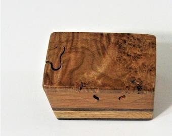Maple Burl Wood Puzzle Box