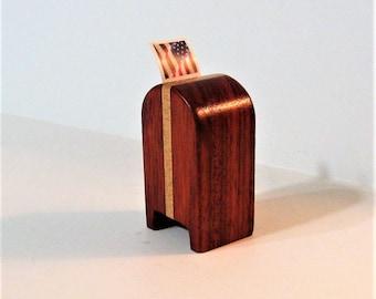 Stamp Dispenser  Made Of Padauk And Maple Hardwood