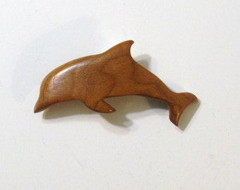Dolphin Hair Clip Made Of Cherry Wood