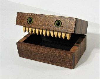 Creature Treasure Box Made Of Four Woods
