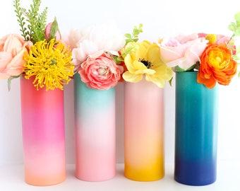 Gradient Ombre Flower Vase - Choose your color