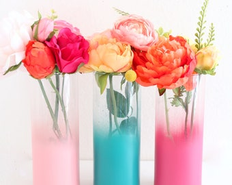 Flower vase etsy more colors ombre flower vase mightylinksfo
