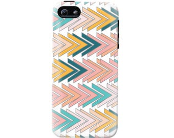 Modern Triangles Geometric Phone Case (fits all types of phones) - Tough case with rubber bumper and liner