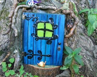 Enchanting Faerie Door Garden Ornament for your tree trunk