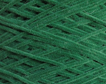 """Wholesale yarn cone - Hunter Green """"Tie"""" novelty yarn  Top quality wholesaler.  Great for weaving, knitting."""