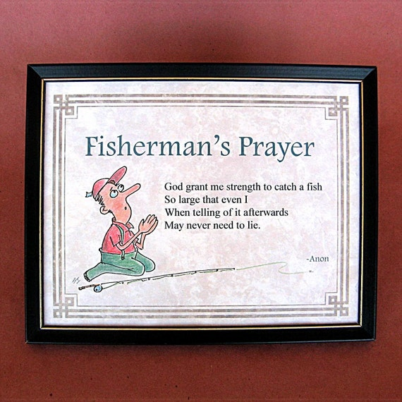 Fisherman\'s Prayer Original Art is a perfect Lake Decor   Etsy