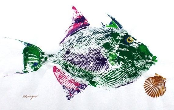 Fish Rubbing Art 18 X 24 Best Lake House Decor on Handmade paper ORIGINAL Rainbow Trout GYOTAKU