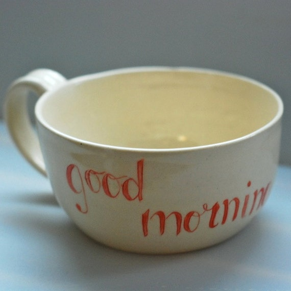 Items Similar To Good Morning Latte Cups On Etsy