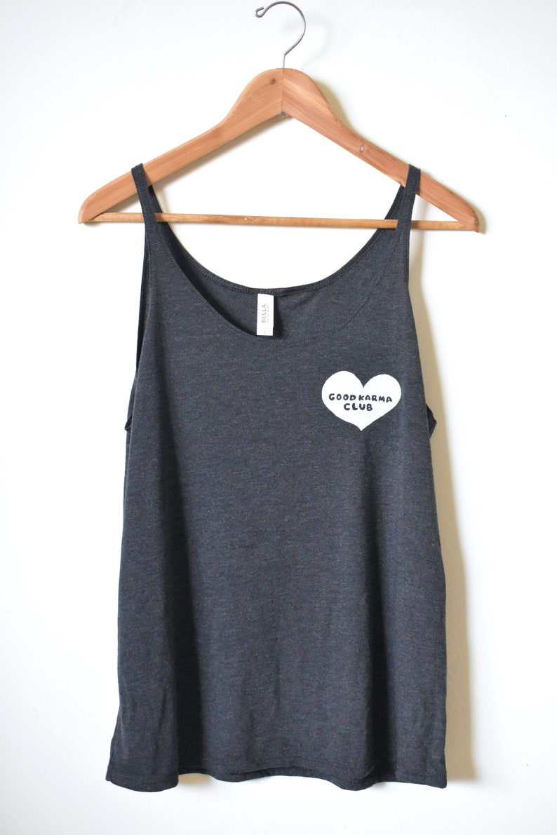 cb368c3208 Good Karma Club Yoga Tank Karma Shirt Mantra Gift for | Etsy