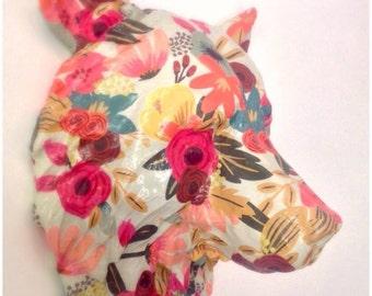 Sweet & Lovely Bear |  Animal Head Paper Art Wallpaper Sculpture