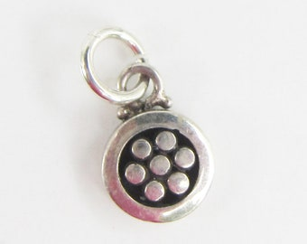 Tiny Sterling Silver Flower Charm - 2879