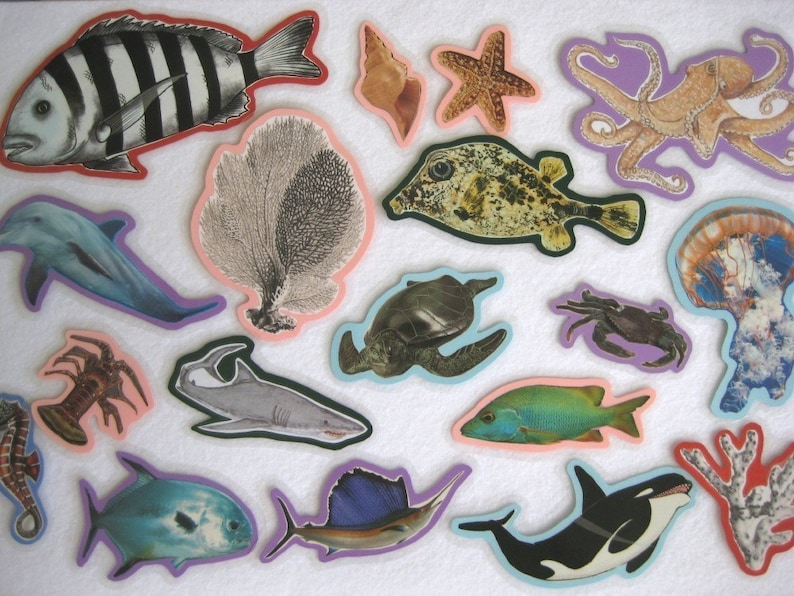 Ocean Animals Felt Board Set Under The Sea Flannel Board Set image 0