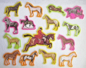 Horses Felt Board Set, Horses Flannel Board Story Set, Felt Board Animals