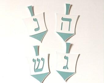Dreidel Die Cuts-Dreidel Die Cut-First Hanukkah-Dreidel-Dreidels-Spinning Top-Dreidel Confetti-Chanukkah-Hanukkah-Babys First Hanukkah