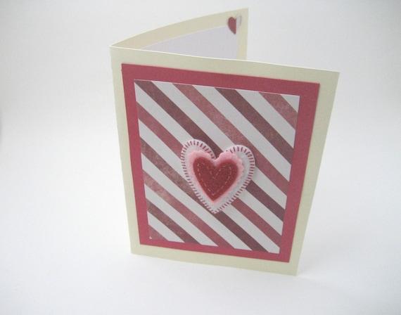 Heart Card Valentine Card Valentine Day Card Boyfriend Etsy