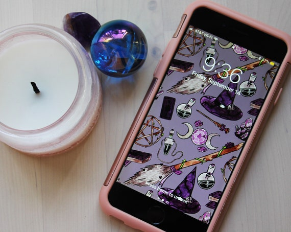 Nature Witch Phone Wallpaper Iphone Android Ipad Etsy