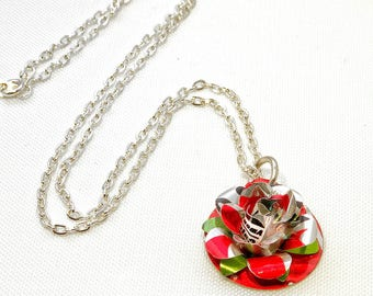 Recycled Rose Necklace NEW
