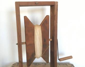 Vintage Kite String Winder, grand enrouleur en bois fait à la main, le Studio string titulaire, accessoire Studio Vintage, jeux de plein air, collection