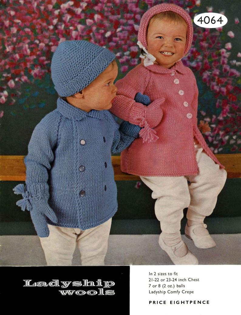 463501a56a7f Vintage Pram Set For Boy or Girl Girls CoatBoys Coat