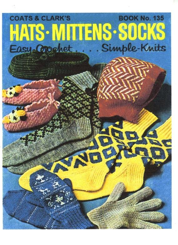 Alte Muster einfach stricken und häkeln Hüte Handschuhe | Etsy