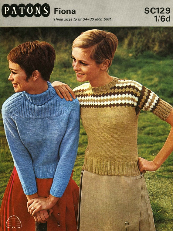 4a3349919 Vintage Skinny with Shetland look Ladies Sweaters Polo