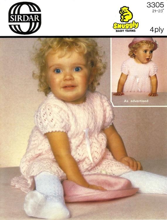 Vintage Toddlers Dress Knitting Pattern 1960 Pdf Pattern Etsy