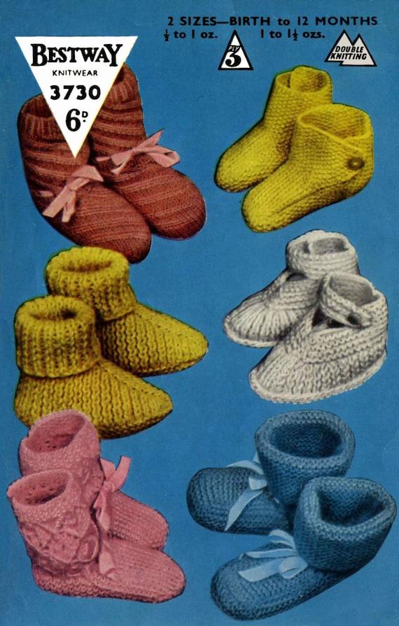 Vintage Bestway Tejer patrón para señoras Sombrero y Mitones