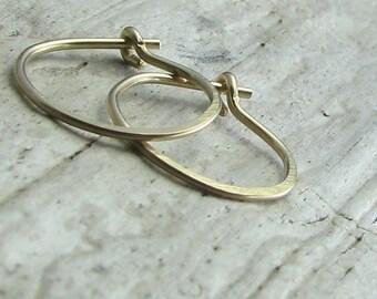 hoop earrings, small hoops, second hole earrings, gold filled jewelry, cartilage piercing 1/2 inch