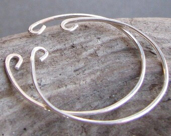 Clip on earring alternative sterling silver hoop earrings Non pierced
