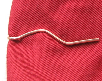 Thin tie clip, copper wire, groomsmen gift, narrow tie bar