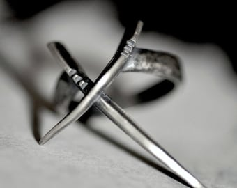 DWO: Scythe ring, sterling silver - statement ring - Joanna Szkiela x Ovate